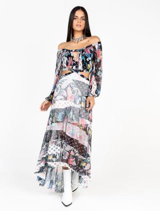 Vestido-De-Tule-Ombro-A-Ombro-Manga-Longa-Estampa