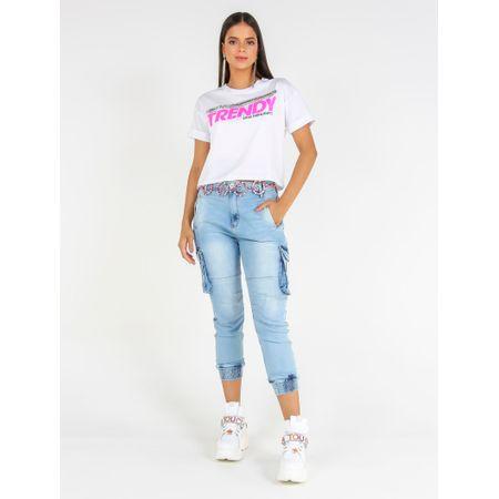 Blusa De Malha Com Bordado E Adesivo Trendy Caos H