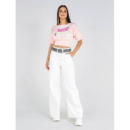 Calça Pantalona Jeans Flare Tie Dye