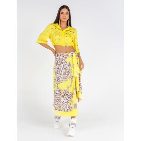 Camisa De Nylon Toda Com Ilhós E Mosquetes