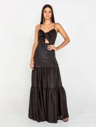 Vestido-Longo-De-Alca-Amarracao-No-Busto-Com-Entre