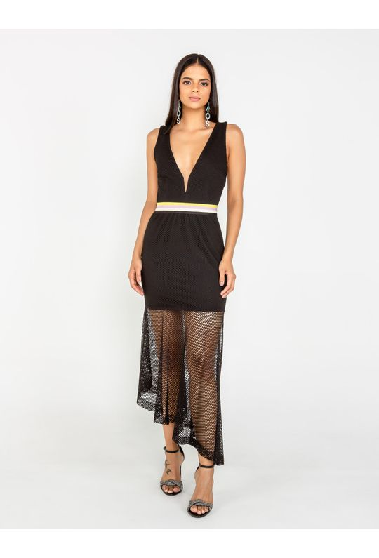 Vestido-Midi-De-Tela-Detalhe-Elastico-Estampa-De-L