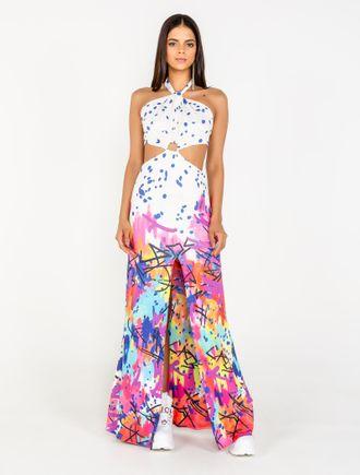 Vestido-Longo-De-Malha-Com-Silk-Grafite-Collors