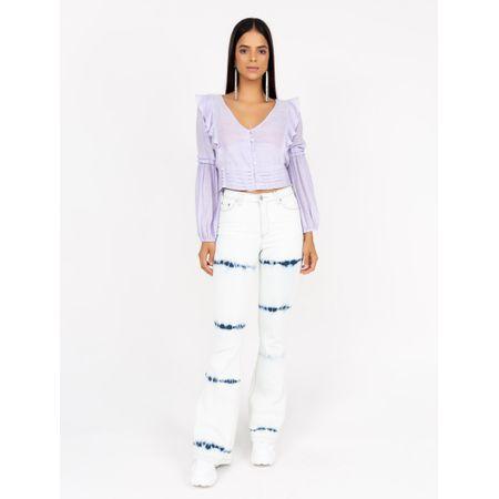 Calça Jeans Flare Tie Dye