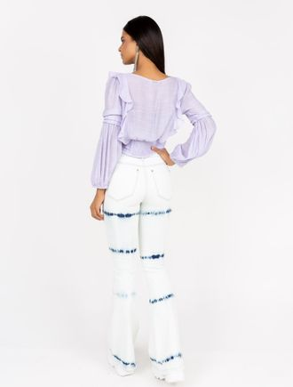 Calca-Jeans-Flare-Tie-Dye-