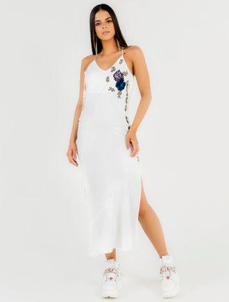 Vestido-Midi-De-Alca-De-Viscose-Com-Patchs-Flor-E--