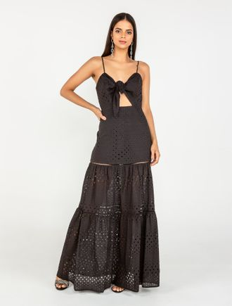 Vestido-Longo-De-Alca-Amarracao-No-Busto-De-Laise