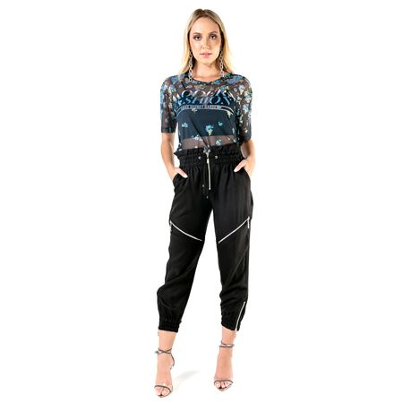 Blusa De Tule Com Silk Modern Fashion Com Transfer