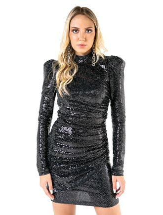 Vestido-Curto-De-Paete-Franzido-Lateral