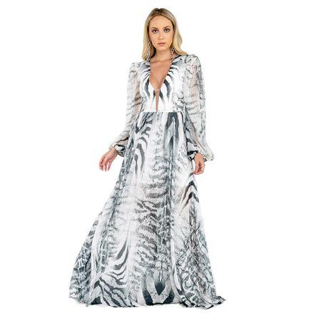 Vestido Longo Leopardo