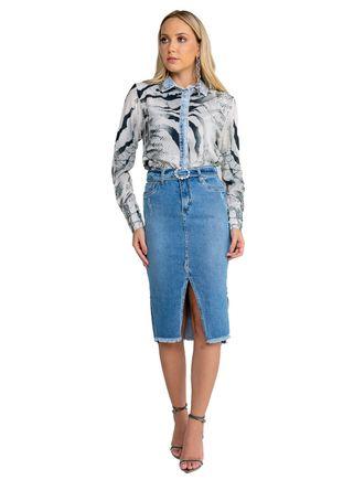 Saia-Midi-Jeans-Com-Cinto