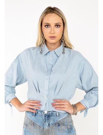 Camisa-Manga-Longa-De-Cupro