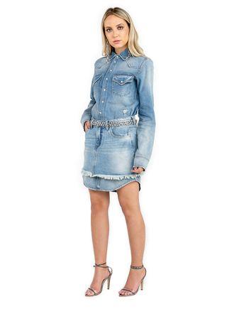 Chemise-Jeans-Com-Mini-Saia