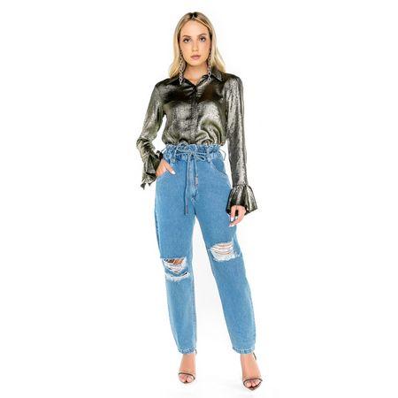 Calça Jeans Boyfriend Clochard