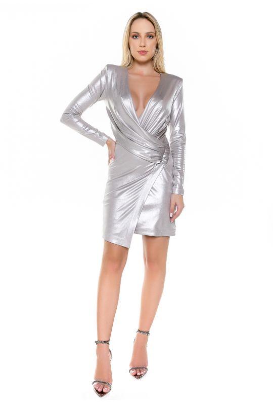 Vestido-Curto-Metalico-Prata-Claro