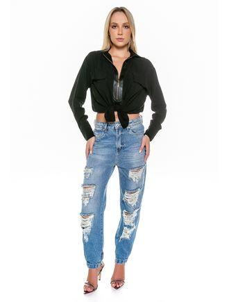Camisa-Manga-Longa-Com-Detalhe-Ziper-E-Bolsos