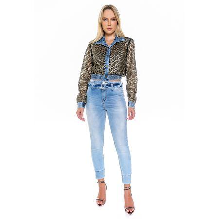 Calça Jeans Skinny Com Cinto - 42