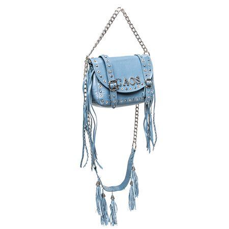 Bolsa Azul Com Arabesco