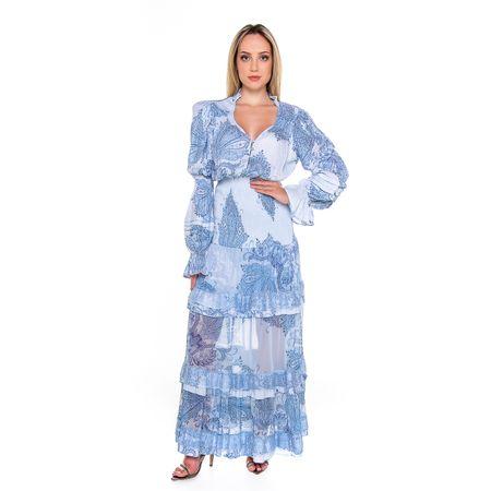 Vestido Longo Azul Gipsy