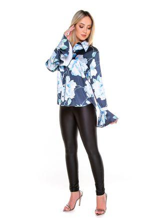 Camisa-Floral-Azul---M