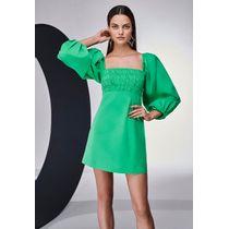 Vestido-Curto-Tricoline-Verde