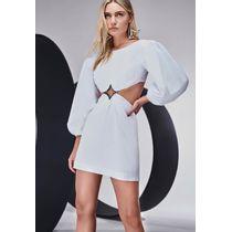 Vestido-Curto-com-Manga-Bufante-e-Estrela-Caos-Branco-