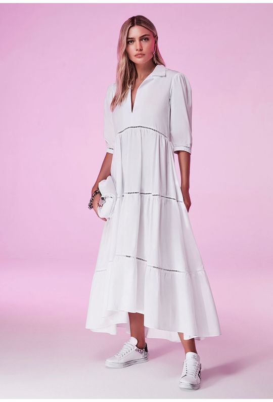 Vestido-Longo-de-Tricoline-Branco