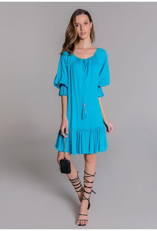 Vestido-curto-azul-com-babados