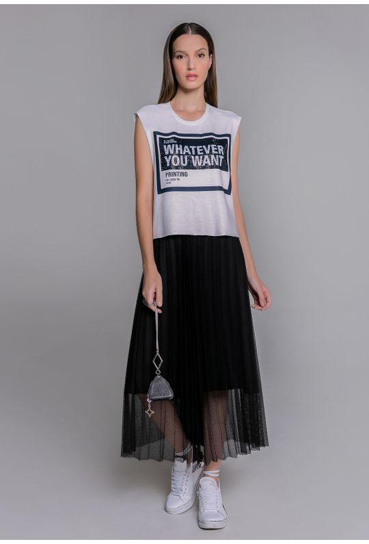 Conjunto-camiseta-moletinho-e-saia-de-tule-preto