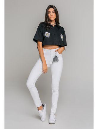 Camisa-De-Tricoline-Com-Bolsos-Frente-Preto