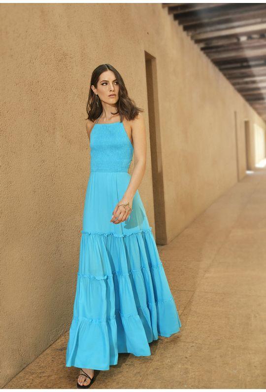 Vestido-Longo-Frente-Unica-C--Lastex-Azul-Piscina