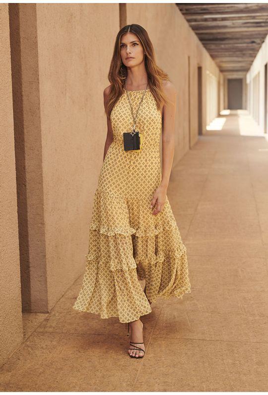 Vestido-Longo-De-Alcinha-Est.-Monograma-Estilizado-Amarelo