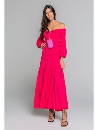 Vestido-Longo-De-Mangas-C--Lastex-Pink