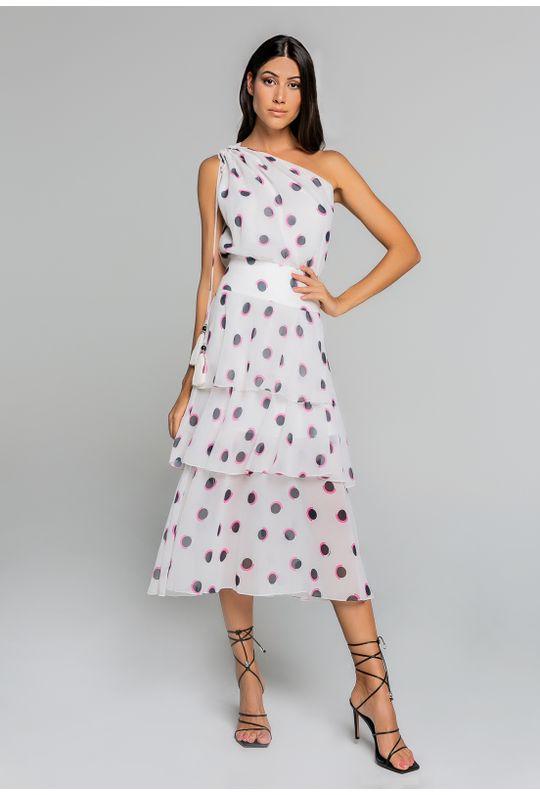 Vestido-De-Um-Ombro-So-Com-Babados-Est.-Poa-Collor-Pink