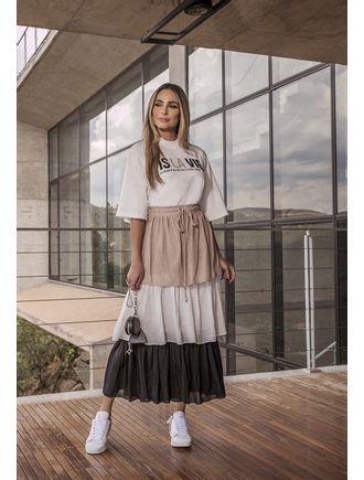Conjunto-Blusa-Saia-Com-Camadas-E-Elastico-Cintura-Off-White