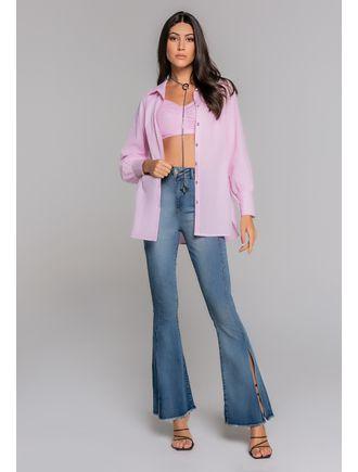 Camisa-Tricoline-Listrada-Com-Top-Rosa