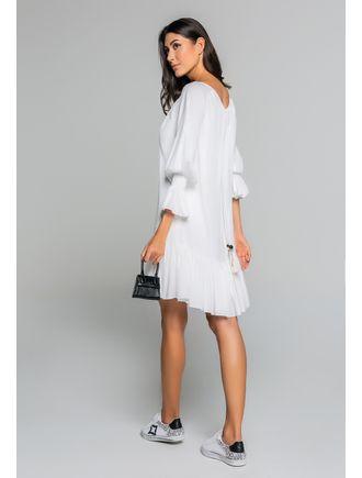 Vestido-Curto-Com-Babados-No-Punho-E-Bordado-No-Ro-Off-White