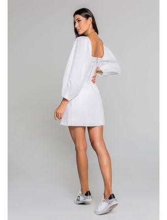 Vestido-Curto-De-Tricoline-C--Manga-Bufante-E-Fren-Branco
