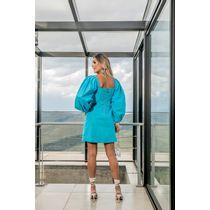 Vestido-Curto-De-Tricoline-C--Manga-Bufante-E-Fren-Azul-Piscina