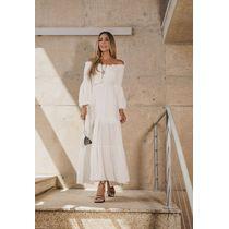 Vestido-Longo-De-Mangas-C--Lastex-Off-White