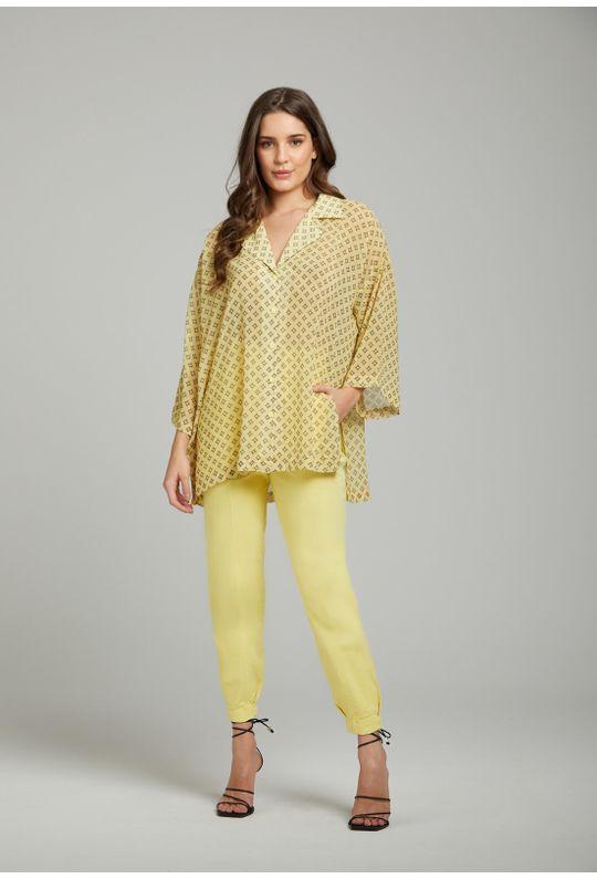 Camisa-Solta-Com-Botoes-Amarelo