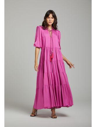 Vestido-Longo-De-Gola-Com-Pompom-E-Cabuchon-Pink