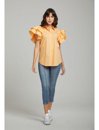 Camisa-Manga-Dupla-Com-Botoes-Laranja-Claro