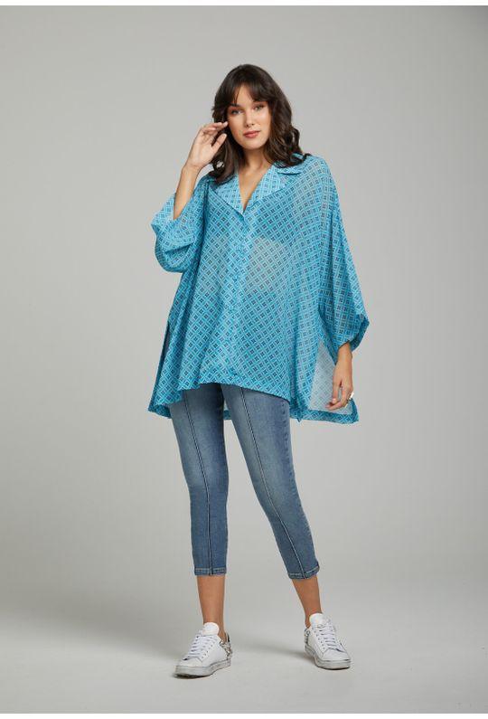 Camisa-Solta-Com-Botoes-Azul-Piscina
