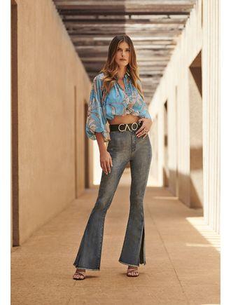 Camisa-Dupla-Com-Botoes-Estampa-Orchid-Azul-Piscina