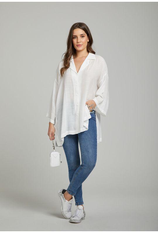 Camisa-Ampla-Com-Botoes-Off-White
