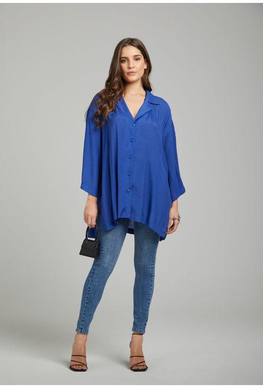 Camisa-Ampla-Com-Botoes-Azul-Marinho