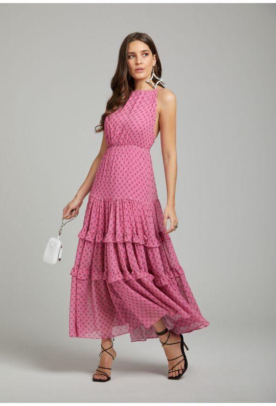 Vestido-Longo-De-Alcinha-Est.-Monograma-Estilizado-Rosa-Chiclete