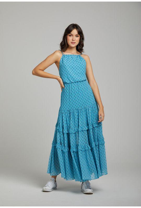 Vestido-Longo-De-Alcinha-Est.-Monograma-Estilizado-Azul-Piscina