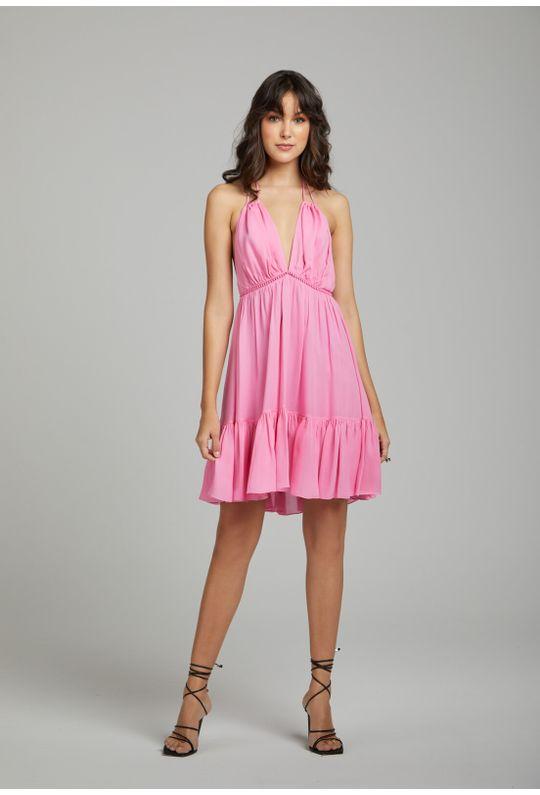 Vestido-Curto-De-Crepe-Frente-Unica-C--Entremeio-E-Rosa-Chiclete